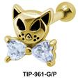Fancy Cat Helix Ear Piercing TIP-961