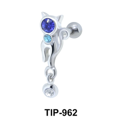 Kitty with Multiple Stone Upper Ear fancy TIP-962