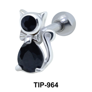 Fancy Cat Helix Ear Piercing TIP-964