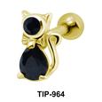 Fancy Cat Helix Ear Piercing TIP-964