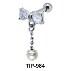 Bow n Pearl Chain Helix TIP-984
