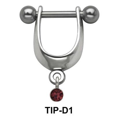 Stone Dangler Upper Ear Cartilage Shields TIP-D1