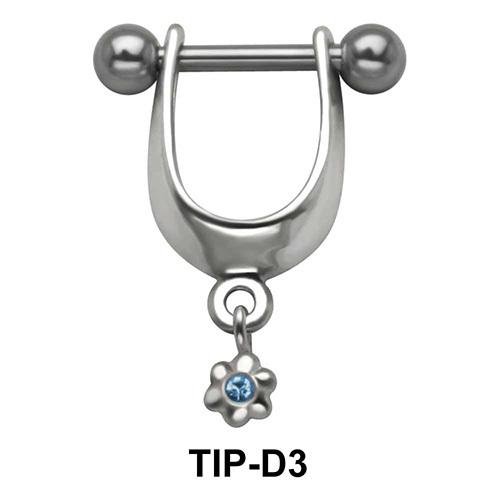 Flower Shaped Upper ear Cartilage Shields TIP-D3