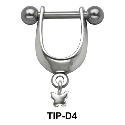 Butterfly Dangler Upper Ear Cartilage Shields TIP-D4