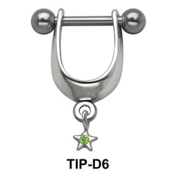 Stone Set Star Dangler Upper Ear Cartilage Shields TIP-D6