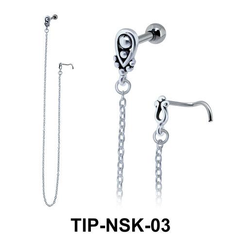 Helix Ear Nose Stud TIP-NSK-03