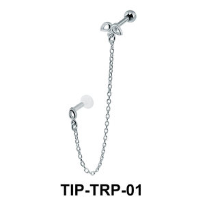 Beautiful Link Helix Ear and Tragus Piercing TIP-TRP-01