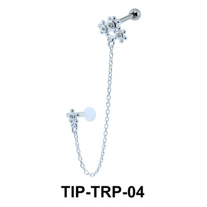 Beautiful Link Helix Ear and Tragus Piercing TIP-TRP-04
