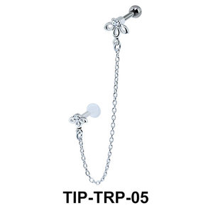 Beautiful  Link Helix Ear and Tragus Piercing TIP-TRP-05