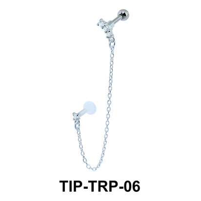 Beautiful Link Helix Ear and Tragus Piercing TIP-TRP-06