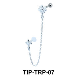 Beautiful Link Helix Ear and Tragus Piercing TIP-TRP-07