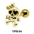 Female Skull Shaped Upper Ear Cartilage Barbells TIPB-04