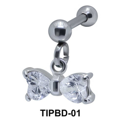 Bow Shaped Upper Ear Dangling Charms TIPBD-01