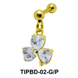 Crystal Stone Dangling Upper Ear Piercing TIPBD-02