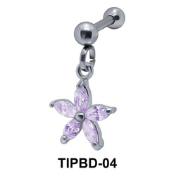 Flower Shaped Upper Ear Dangling Charms TIPBD-04