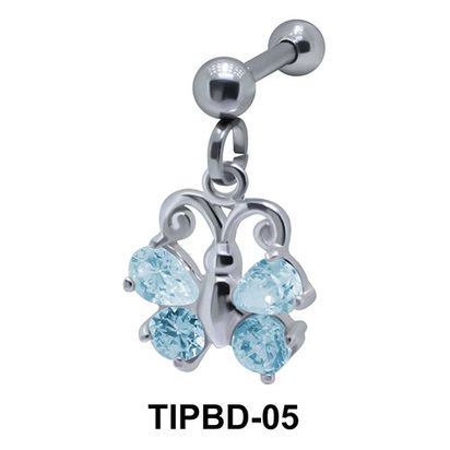 Butterfly Shaped Upper Ear Dangling Charms TIPBD-05