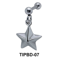 Star Shaped Upper Ear Dangling Charms TIPBD-07