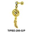 Dream Catcher Shaped Upper Ear Dangling Charms TIPBD-200
