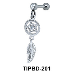 Dream Catcher Shaped Upper Ear Dangling Charms TIPBD-201