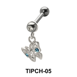 Stone Set Butterfly Upper Ear Charms TIPCH-05