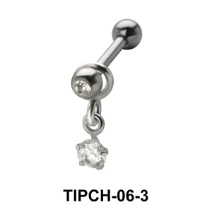 Stone Set Upper Ear Charms TIPCH-06-3