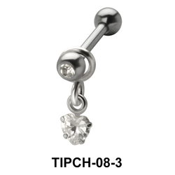 Heart Stone Design Upper Ear Charms TIPCH-08-3