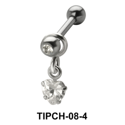 Heart Stone Dangling Upper Ear Charms TIPCH-08-4