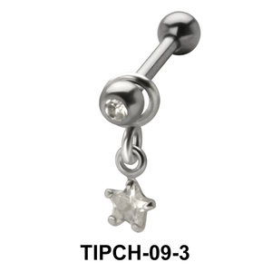 Star Stone Dangling Upper Ear Charms TIPCH-09-3