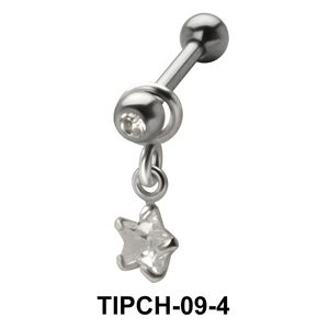 Star Stone Dangling Upper Ear Charms TIPCH-09-4