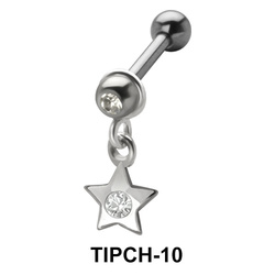 Stone Set Star Shaped Upper Ear Charms TIPCH-10