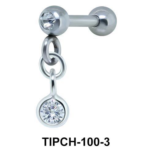 Helix Ear Piercing Bezel Gems TIPCH-100