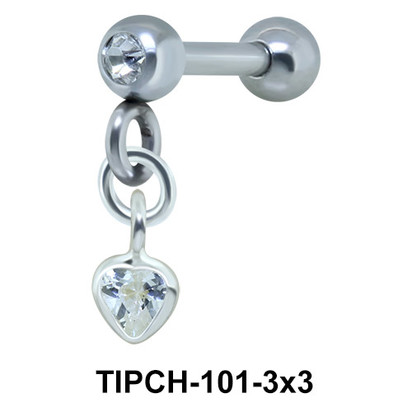 Helix Ear Piercing Bezel Gems TIPCH-101