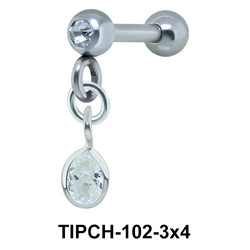 Helix Ear Piercing Bezel Gems TIPCH-102