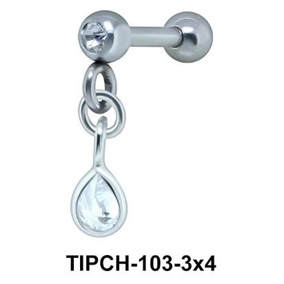 Helix Ear Piercing Bezel Gems TIPCH -103