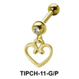 Heart Shaped Dangling Upper Ear Charms TIPCH-11