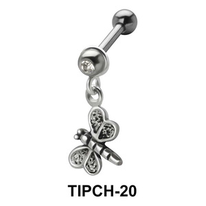Stone Set Butterfly Shaped Upper ear Charms TIPCH-20