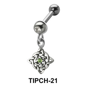 Stone Set Intricate Design Dangling Upper Ear Charms TIPCH-21
