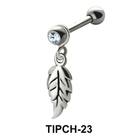 Stone Set Leaf Shaped Upper Ear Charms TIPCH-23