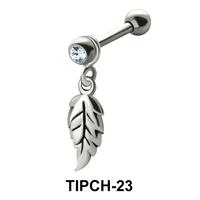 Stone Set Leaf Shaped Upper Ear Charms TIPCH-23