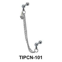 Heart Dangling Helix Chain TIPCN-101