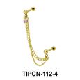 Star Stone Set Upper Ear Piercing Chain TIPCN-112-4