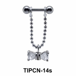 Bow Stone Dangling Helix Chain TIPCN-14s