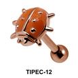 Ladybird Shaped Helix Enamel TIPEC-12