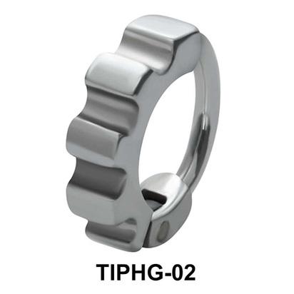 Wheel Shaped Upper Ear Design Rings TIPHG-02