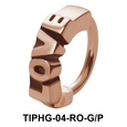 Love Shaped Upper Ear Design Rings TIPHG-04