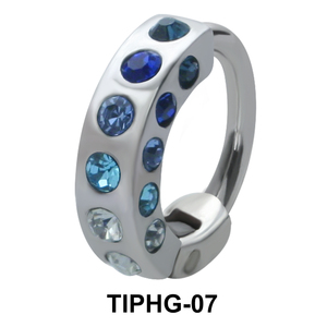 Rhinestones Upper Ear Design Rings TIPHG-07