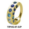 Rhinestones Upper Ear Design Rings TIPHG-07