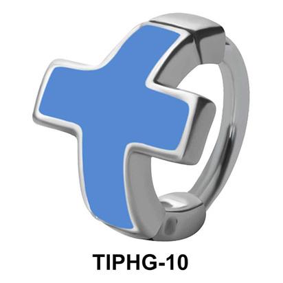 Blue Enameled Upper Ear Design Rings TIPHG-10