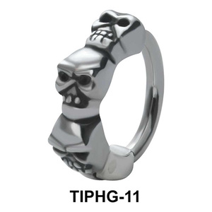 Skull Shaped Upper Ear Design Rings TIPHG-11