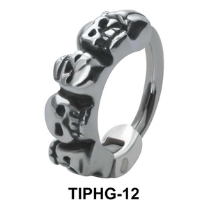 Skull Shaped Upper Ear Design Rings TIPHG-12